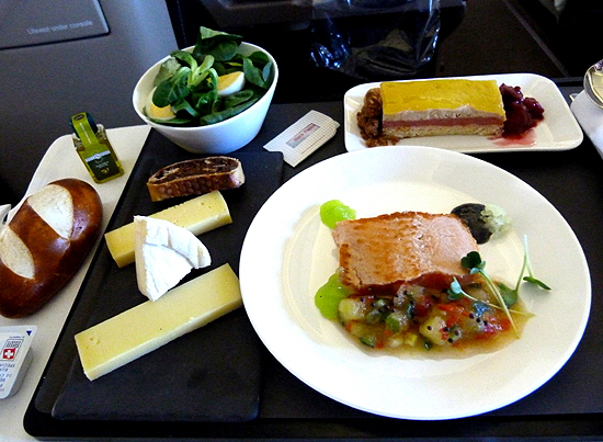 Swiss In Flight meal