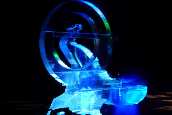 NYBG Glow Ice Sculpture