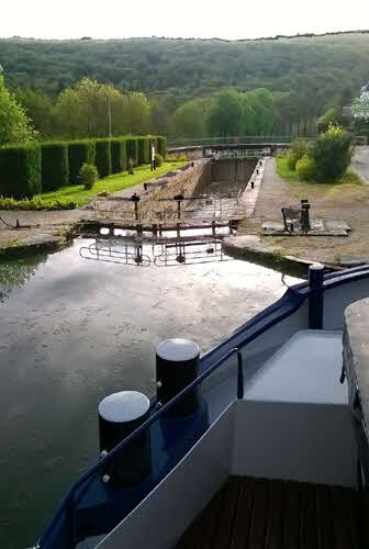 Canal Lock and Barge Prow