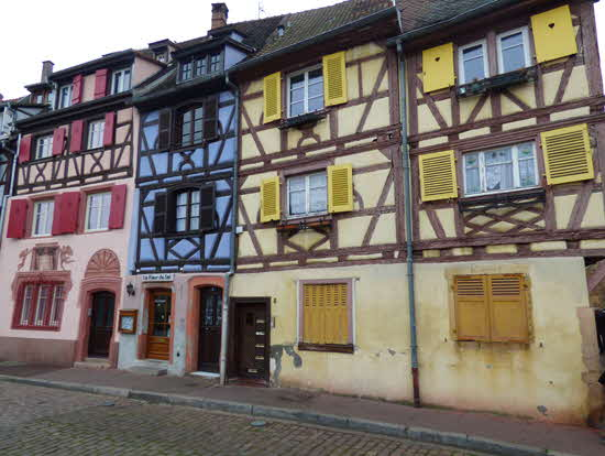 Colmar Multicolored Half-Timbered Houses