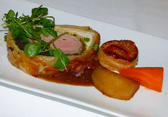 Uniworld River Queen Beef Wellington