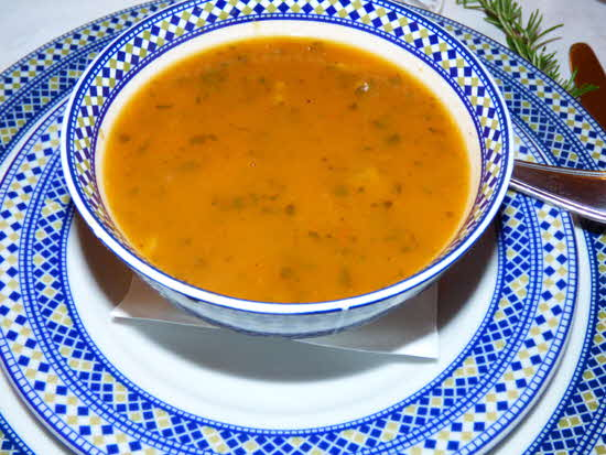 Morocco Harira Soup in Bowl