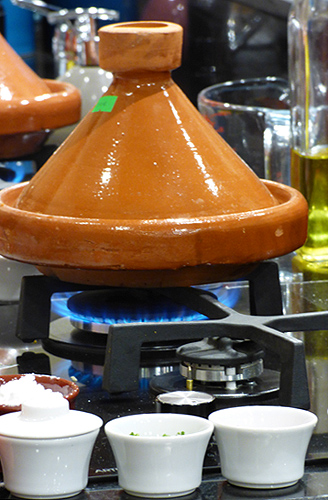 Morocco Tajine on Burner