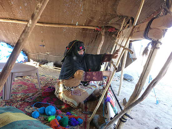 Morocco Nomad Woman Weaver