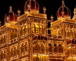 Faces of India Mysore Palace at night