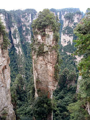 Hunan The stone pillar supporting heaven was renamed Avatar Hallelujah Mountain