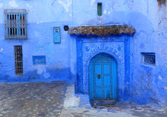 Chefchaouen House Entrance