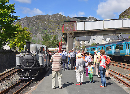 Welsh Railway Station and Family