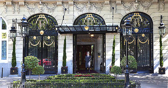 Hotel Ritz Madrid Entrance