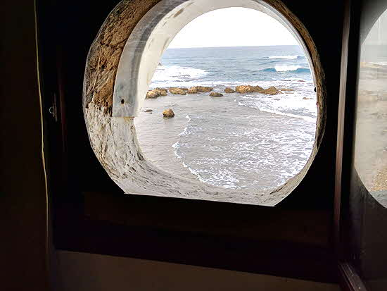 Lebanon my Al-Fanar porthole window was poised over the sea