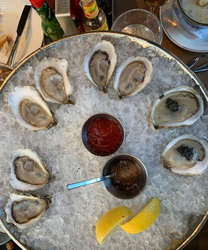 Boston Oysters on half shell