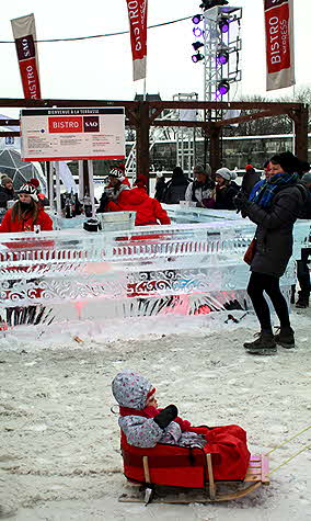 Quebec Winter Carnival forget the strollers