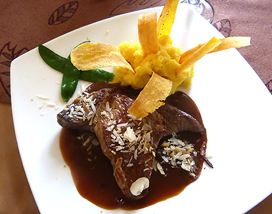 Colombia Filet  with Coffee Sauce