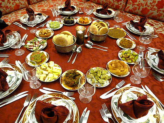 Morocco Riad El Amine Fès Dinner Table