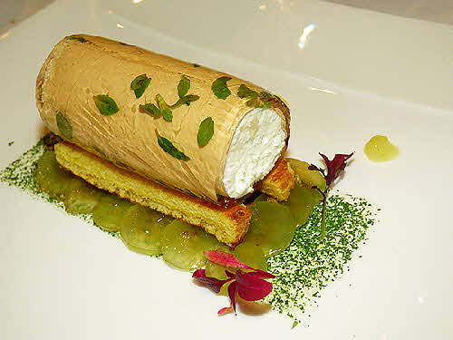 Corinthia Lisbon Timbale of Fresh Cheese Curd wrapped in Aspic