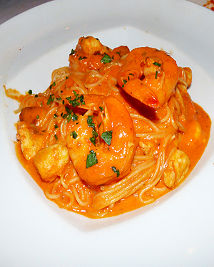 Reno Briscola Shrimp on Angel Hair