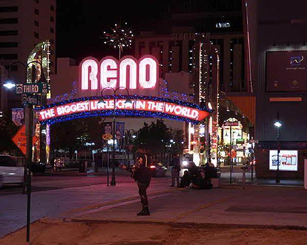 Reno Illuminated Sign