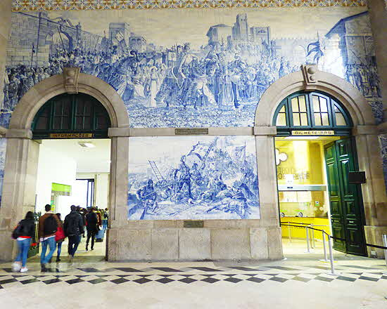 Azulejos at RR station
