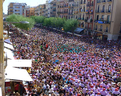 Catalonia Crowd in Street