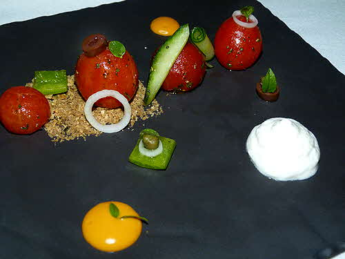 Electra Palace Roof Garden Restaurant Deconstructed Greek Salad