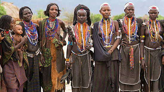 Ethiopia Lower Omo Valley Arbore Tribe