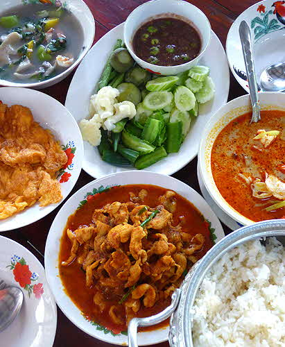 Gastronomy in Thailand Assorted Lunch Dishes