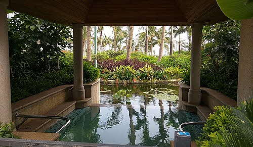 Hainan Island Shangri La natural hot spring pool