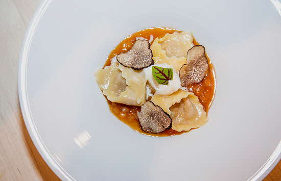 James Beard Foundation Duck Truffle Agnolotti