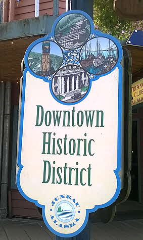 Juneau Alaska Historic District Sign