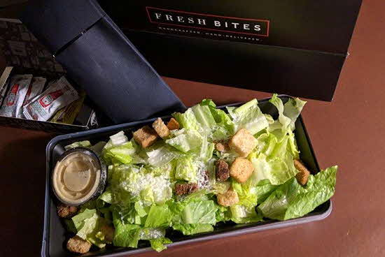 Marriott Syracuse Hotel Fresh Bites Caesar salad