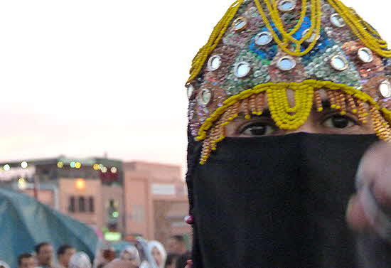 Morocco Woman in Burqa