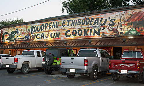 Southern Louisiana Boudreau and Thibodeau restaurant
