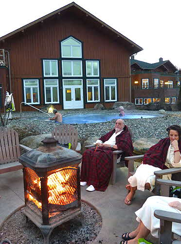 Spa Eastman Firepit and thermal pool