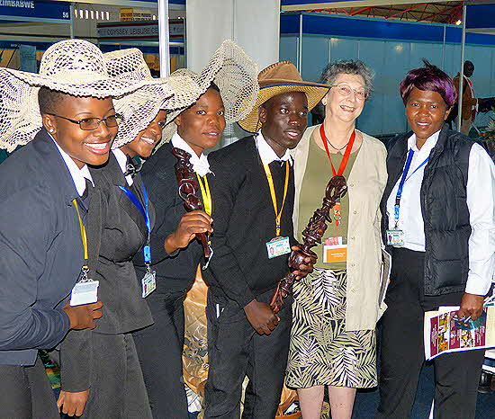 Zimbabwe Expo Personnel with Barbara